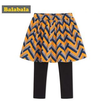 Balabala Toddler Girl Fake Two Piece Patterned Filppy Skirt + Pull On...
