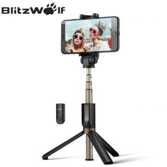 BlitzWolf 3 in 1 Wireless Bluetooth Selfie Stick Mini Tripod Extendable Monopod...