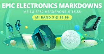 EPIC ELECTRONICS MARKDOWNSMEIZU EP52 Headphone @$5.55Mi Band 3 @ $9.99