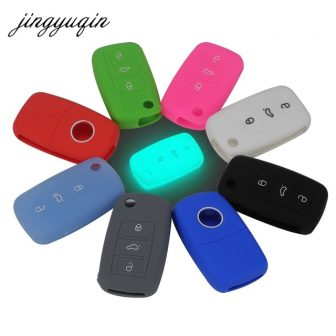jingyuqin Silicone Key Case For VW Polo Passat B5 Golf 4 5...