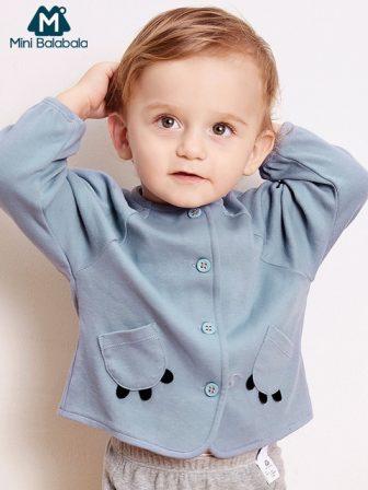 Mini Balabala Baby Boys Girls Infant Cardigan Coat Autumn Newborn Baby Jacket...