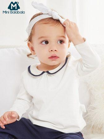 Mini Balabala Baby Cotton T-shirt Long Sleeve Shirt Top Infant Newborn Baby...