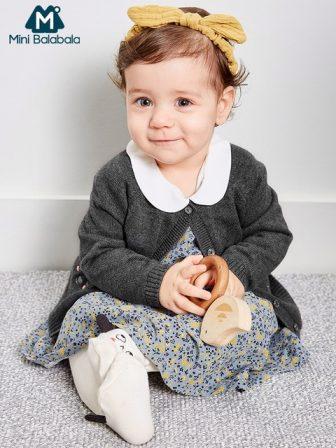 Mini Balabala Baby Dress Newborn Infant Baby Boys Girls Cotton Printed Dresses...