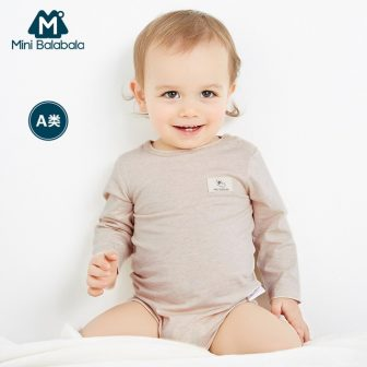Mini Balabala Babys 100% Soft Cotton Bodysuits with Open Shoulder Newborn Infant...