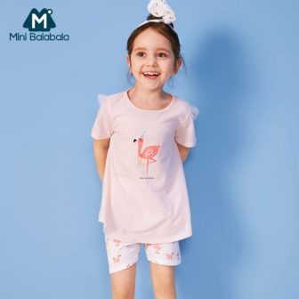 Mini Balabala Toddler Girl 100% Cotton Flamingo Snug Fit Pj Set Children...