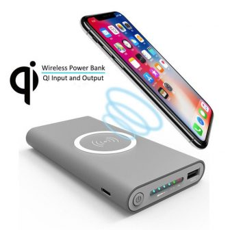 Qi Wireless Charger 30000mAh Power Bank For iPhone X 8 Plus Samsung...