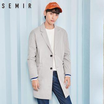 SEMIR Jacket men long sleeve coat long trench thin clothing simple chic...