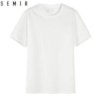 SEMIR Men T shirt Fashion 2018 Cotton Mens Tshirts White Tee shirt...