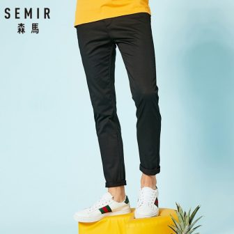 SEMIR new casual pants men brand-clothing simple solid trousers male high quality...