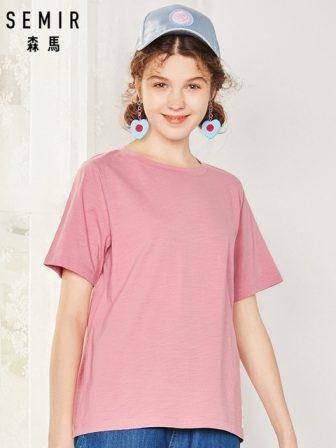 SEMIR T Shirt Women New 100% Cotton t-shirts womens 2019 vogue Vintage...