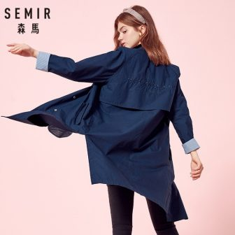 SEMIR Windbreaker Jackets Women Long Jacket 2018 Autumn New Thin Coat Version...