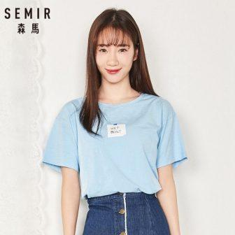 SEMIR Women's Short Sleeve T-shirt with Applique Women Printed T Shirt Tee...