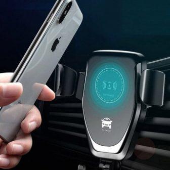 Univerzális vezeték nélküli Qi gyors töltésű autós töltő Air Vent telefon tartó
