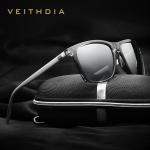 VEITHDIA Brand Unisex Retro Aluminum+TR90 Sunglasses