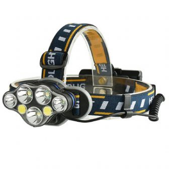 XANES 2606-7 1900LM 3*T6+2*XPE+2*COB 8 Modes Bicycle Headlamp 2*18650 Battery USB InterfaceBike...
